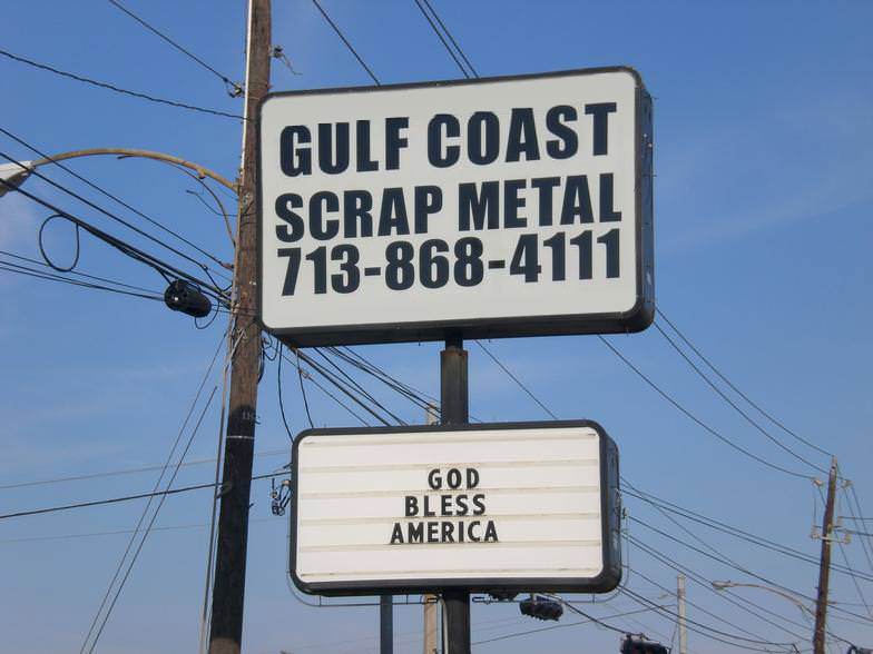 Gulf Coast Scrap Metal - Sign