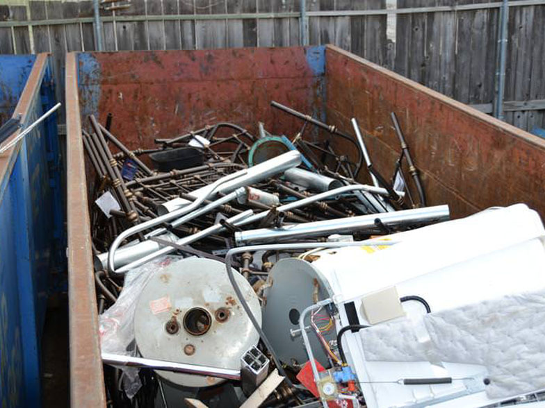 Scrap Metal on in a Container